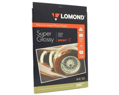 1105100 Фотобумага Lomond 240/А4/20л Суперглянец