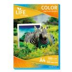 Цветная офисная бумага LIFE 80г/А4/50л голубая