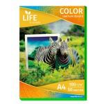 Цветная офисная бумага LIFE 80г/А4/50л зеленая