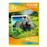 Цветная офисная бумага LIFE 80г/А4/50л желтая