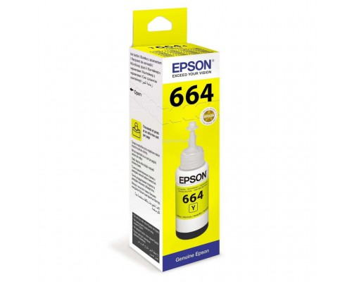 Чернила 664 Epson L100/110/200/210/300/355/550/555 (O) C13T66444A, yellow, 70ml