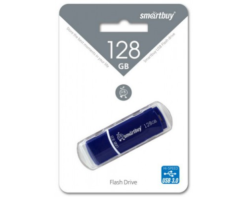 ФЛЭШ-КАРТА SMART BUY  128GB CROWN BLUE С КОЛПАЧКОМ USB 3.0