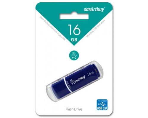 ФЛЭШ-КАРТА SMART BUY 16GB CROWN USB 3.0 BLUE С КОЛПАЧКОМ