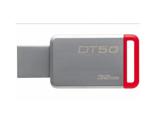 ФЛЭШ-КАРТА KINGSTON  32GB DT50 METAL/RED USB 3.0