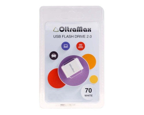 ФЛЭШ-КАРТА OLTRAMAX 32GB 70 mini WHITE USB 2.0