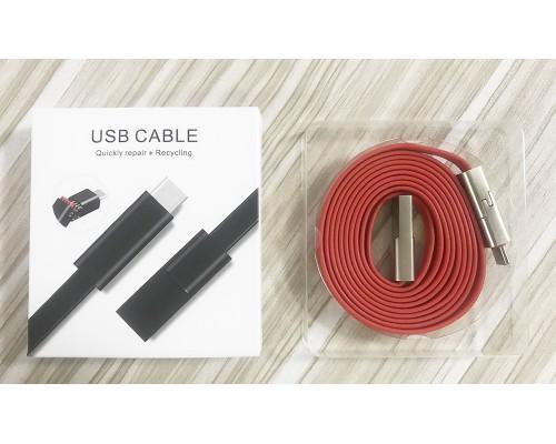 USB Cable Lightning САМОВОССТАНАВЛИВАЮЩИЙСЯ КОГДА ПОРВАН (1 Метр)