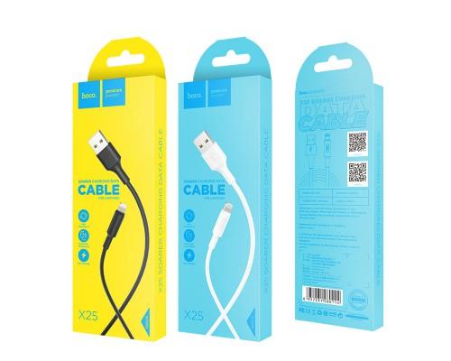 HOCO КАБЕЛЬ USB-iPHONE 5-8 X25 Soarer ЧЕРНЫЙ 1.0м