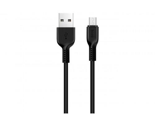 HOCO КАБЕЛЬ USB-microUSB X20 ЧЕРНЫЙ 1.0м FLASH
