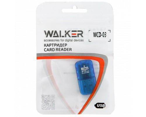 КАРТ-РИДЕР WALKER WCD-03 microSD/USB 2.0