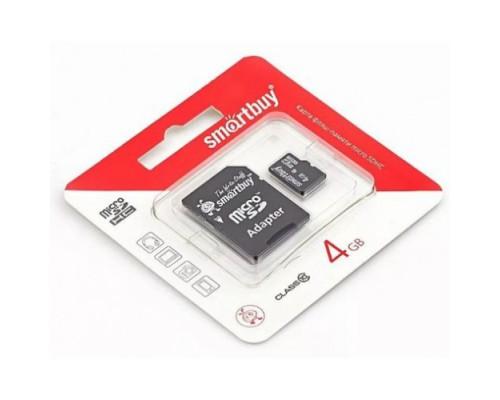 SMART BUY 4GB MICRO SDHC CLASS 10 + SD АДАПТЕР