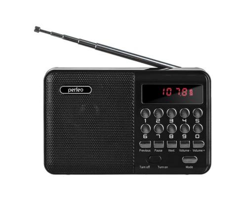 """РАДИОПРИЕМНИК PERFEO i90-BL """"PALM"""" MP3/FM/USB/18650 ЧЕРНЫЙ"""