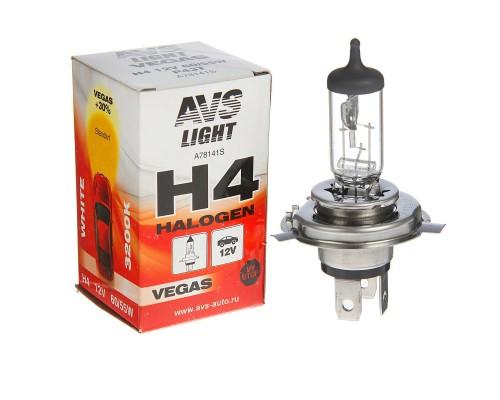 Лампа AVS H4  галоген 12V 60/55W А78141S